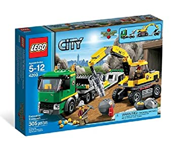 lego city 4203 4203 jeu de construction le transporteur transporteur lego city jeux. Black Bedroom Furniture Sets. Home Design Ideas