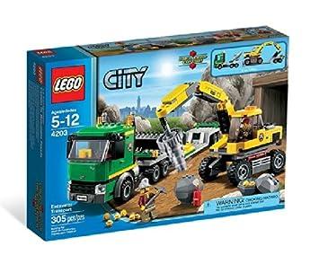 lego city 4203 4203 jeu de construction le transporteur transporteur lego city jeux. Black Bedroom Furniture Sets. Home Design Ideas