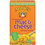 Annies Homegrown Wisconsin Cheddar Microwavable Mac & Cheese, 10.7 oz, 5 ct, 2 pk