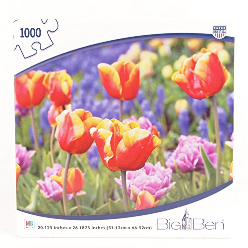 Big Ben Jigsaw Puzzle of a Field of Tulips