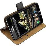 mumbi Leder Tasche Samsung Galaxy Note Etui Hülle - Echt Ledertasche Galaxy Note N7000 Case im Bookstyle