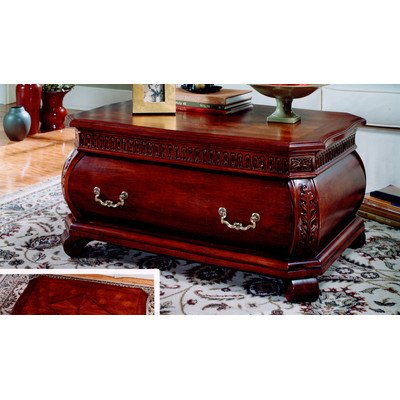Butler Specialty Plantation Rectangular Bombe Wood Cocktail Table In Cherry