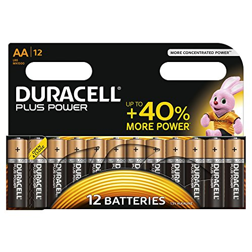 Duracell - Pile Alcaline Plus Power - AA - 12 Piles