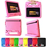 """Fintie (Pink) Casebot Kiddie Series Light Weight Shock Proof Handle Case for Kids Specially made for Kindle Fire HD 7 (will only fit Kindle Fire HD 7"""" 1st Generation 2012)"""