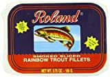 Roland Rainbow Trout Fillets, Smoked Sliced, 3.75 Ounce