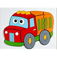 Little Genius Raised Puzzle - Van, Multi Color