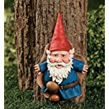Garden Tree Gnome statue plaque yard art