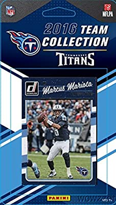 Tennessee Titans 2016 Donruss NFL Football Factory Sealed Limited Edition 14 Card Complete Team Set with Marcus Mariota, Demarco Murray, Legend Eddie George & Many More! Shipped in Bubble Mailer!