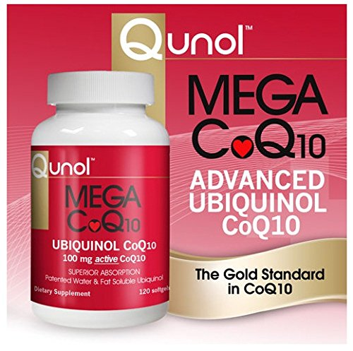 Qunol Mega CoQ10 Softgels, 100 Mg, 120 Count coq10 60 softgels 50 mg by vitabase