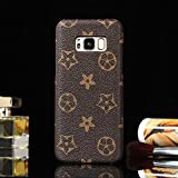 HeiL S8PLUS TPU (Fast US Deliver Guarantee Fulfilled by Amazon) New Elegant Luxury PU Leather Monogram Pattern Classic Style Cover Case For Samsung Galaxy S8 Plus ONLY (Brown Monogram)