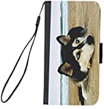 Rikki KnightTM Siberian Husky on Beach Design iPhone 6 & 6s Premium PU Leather Wallet Flip Case with Magnetic Flap for iPhone 6 & 6s