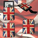 CaseGuru Victorious Vintage United Kingdom Patriotic Slip Pouch Case Cover Holder for Kobo Mini eReader with Pull Out Tab