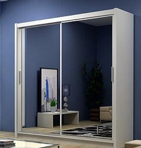 wardrobe closet free standing wardrobe closet with sliding doors. Black Bedroom Furniture Sets. Home Design Ideas