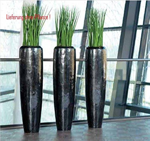Blumenbertopf-Loft-Vase-aus-Kunststoff-nur-fr-den-Innenraum-geeignet-Farbe-Schwarz-glnzend--34cm-Hhe-150cm