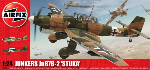 Airfix A18002 1:24 Scale Junkers Ju-87B Stuka Military Aircraft Classic Kit Series 18 front-1079063