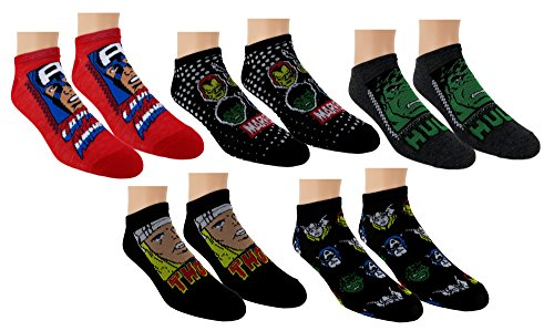 Marvel-Avengers-Mens-5pk-No-Show-Socks