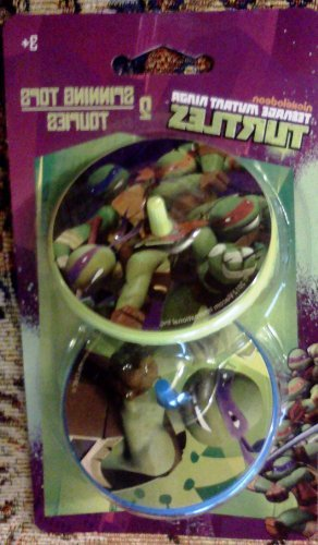 Teenage Mutant Ninja Turtles 2 Spinning Tops Nickelodeon Toy - 1