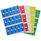 Mr-Label (20 Sheets, 600 Labels) Multi-color P Type PVC Self Adhesive Blank Cable Labels- Waterproof Tearproof Oilproof-with Online Print Tool
