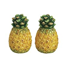 Tropical Pineapples Salt & Pepper Shakers Set
