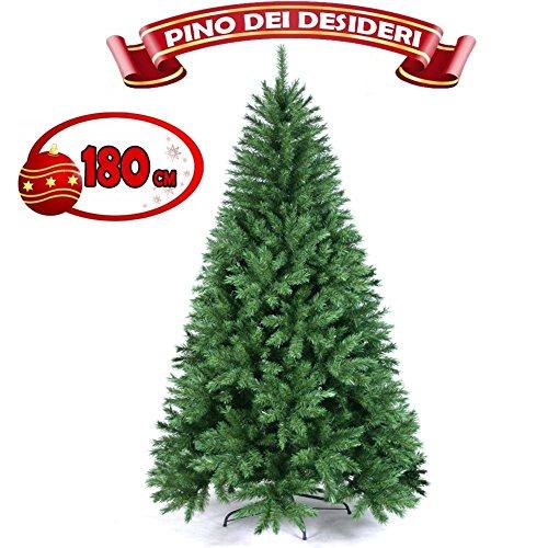 ALBERO-DI-NATALE-180-CM-PINO-DEI-DESIDERI-ECOLOGICO-BASE-A-CROCE-IN-FERRO-605-RAMI-INNESTO-AD-UNCINO