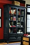 American Drew Camden Black Bookcase China Cabinet
