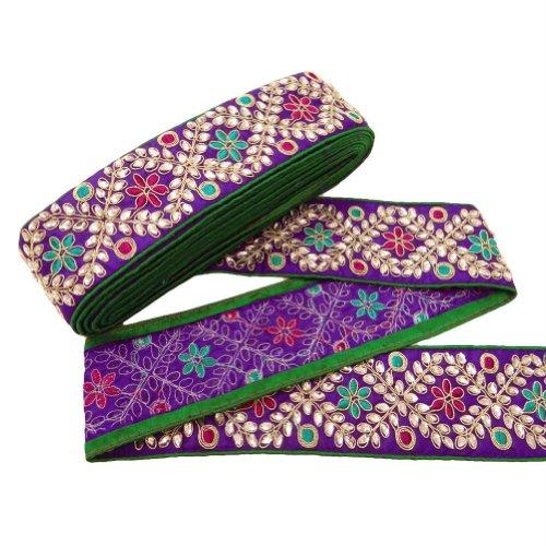 patron-decorativo-de-la-ropa-de-la-tela-del-ajuste-purpura-floral-sari-cordon-de-la-frontera-india-p