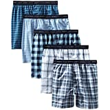Hanes Men's 5-Pack Tagless, Tartan Boxer with Exposed Waistband, Assorted, Medium