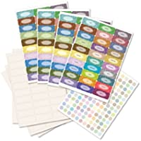 Sage Hill Essential Oil Smear-Protect Bottle Label Set - Blanks, Blends & Caps