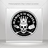 Sticker Decal King Of The Grill Bbq Sign Tablet Laptop Weatherproof Sports ca (45 X 45 In)