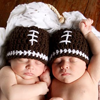 Amazon.com: Melondipity Boys Football Crochet Baby Hat