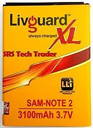 LivGuard Battery For Samsung Note 2 N7100 3100mAh