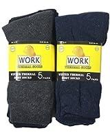 10 Pairs Men's Work Socks Re-inforced heel & Toe 6-11