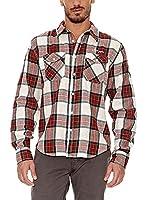 BIAGGIO Camisa Hombre Chimol (Rojo / Verde)