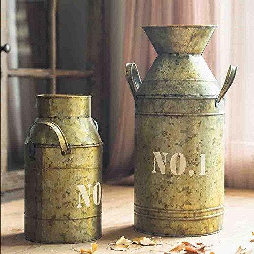 Watering Honey Galvanized Old Milk Can Country Rustic Primitive Jug Vase ~17.5 Inch 4