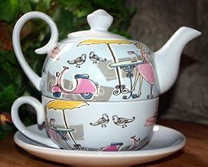 5759 --- Tea for One -- Dekor Bistro --- Keramik ---