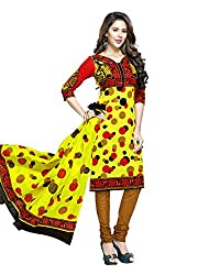 Neerja creation womens cotton Unstiched Dress material(K-2013_Yellow)