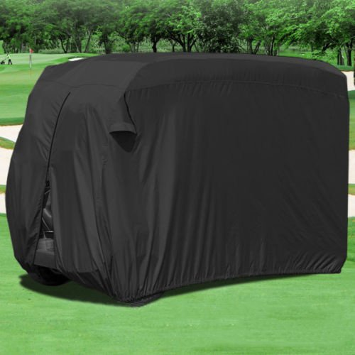 Allnice 4 Person Golf Cart Cover Waterproof Superior Black Golf Cart Storage Cover Covers Club Car, Ez Go,Yamaha, Fits Most Four-person Golf Carts (Golf Cart Wheels Covers compare prices)