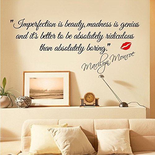 coffled-marilyn-monroe-saying-wall-decal-stickersimpersonation-is-beautyfantastic-wall-decoration-fo