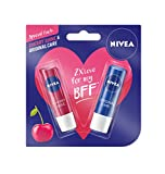 #1: Nivea Lip Care, Cherry, 4.8g with Lip Care Essential, 4.8g