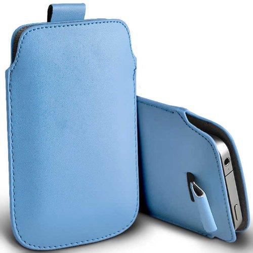 ( Baby Blue ) Samsung Rex 60 C3312R Schutzkunstleder Pull Tab stilvolle Einbau Beutel-Kasten-Abdeckung Haut durch Spyrox