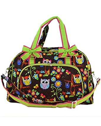 "Lime Tree Quilted Hoot Hoot Owl 20"" Weekender Bag (Lime)"