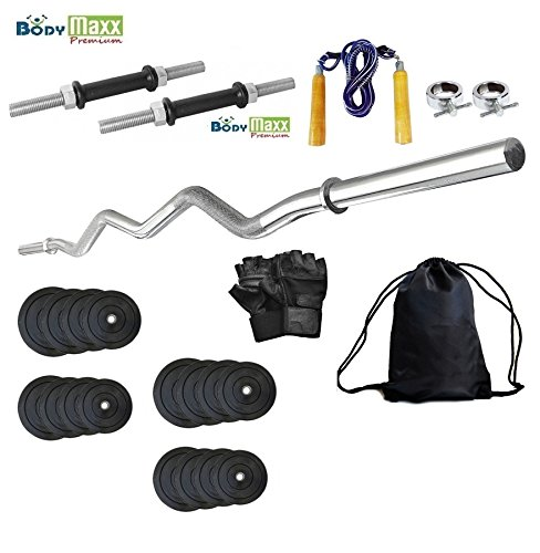 Body Maxx Weight Lifting Home Gym Set, 10Kg