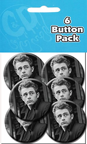 "C&D Visionary James Dean Profile 1.25"" Button (6-Piece)"
