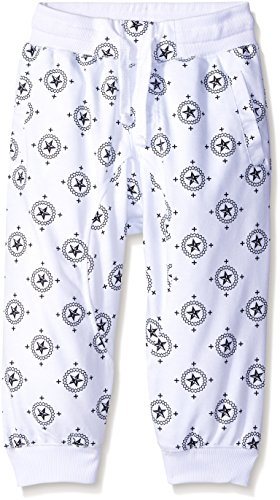 Southpole Big Boys' All Over 3/4 Capri Pants with Little Star Prints, White, X-Large (Boys Capri Pants compare prices)