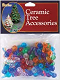 "Ceramic Christmas Tree Bulbs .5"" 100/Pkg: Medium Globe-Multi"