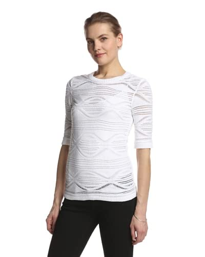 SVEE Women's Open Stitch Knit Top