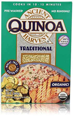 Ancient Harvest Gluten-Free Quinoa Organic White grains Traditional 12 OZ