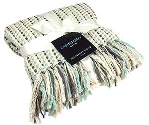 Amazon.com - Throw Blanket Designer Cynthia Rowley Ribbon Weave