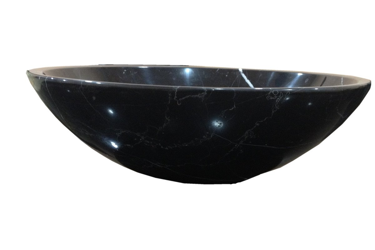 White Stone Vessel Sink : ... White Marble Stone Sink Top mount Classic Round Vessel with Drain YF15