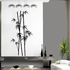 Sticasa bamboo 70x141 cm nero opaco adesivi murali for Stickers murali cucina